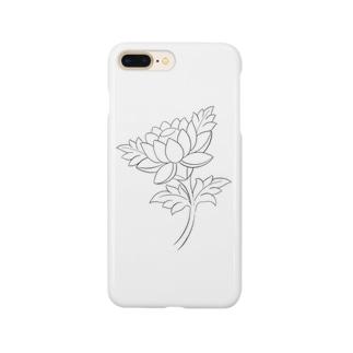 蓮 モノトーン Smartphone cases