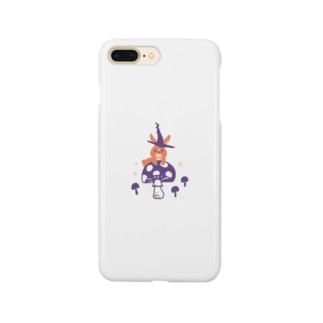 夜の森(うさぎ) Smartphone cases