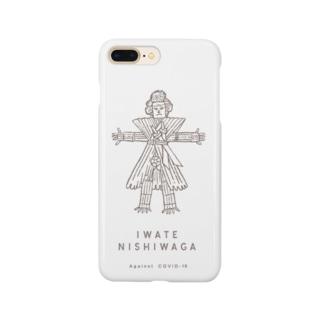 西和賀の厄払い人形 Smartphone cases