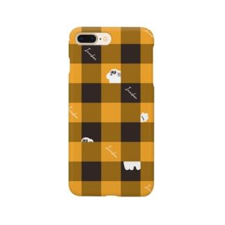 チェック柄な犬ちゃん Smartphone cases