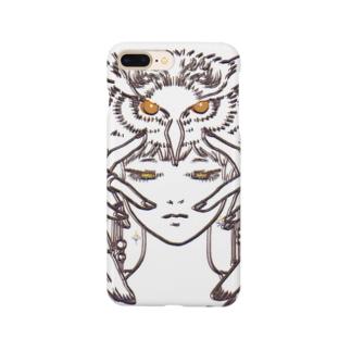 フクロウガール Smartphone cases