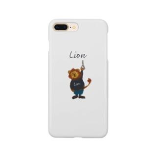 new つり革 ライオン  Smartphone cases