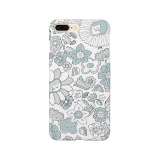 花こちゃん(ブルー) Smartphone cases