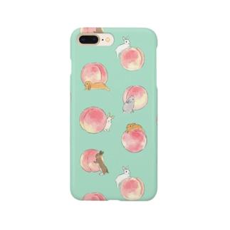 桃とうさぎさん Smartphone cases