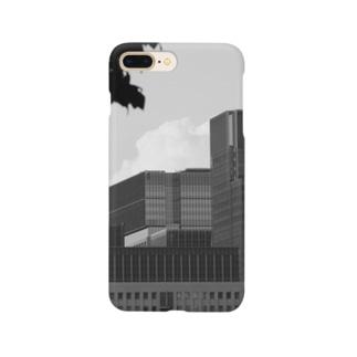 モノクロビルディング Smartphone cases