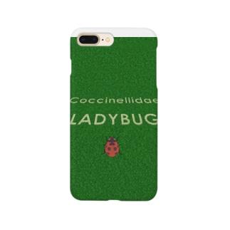 テントウムシin芝生 Smartphone cases
