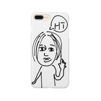 センター分け Smartphone cases