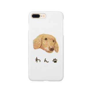 わん(犬・ダックスフンド) Smartphone cases