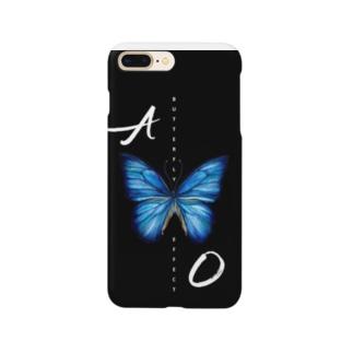 青い蝶 BUTTERFLY  EFFECT Smartphone cases