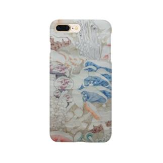 きのこ線描き Smartphone cases