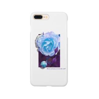 咲き誇れ(ブルー) Smartphone Case