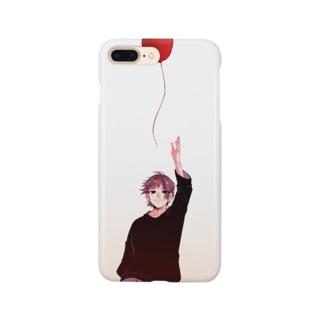 風船と男の子のスマホケース Smartphone cases