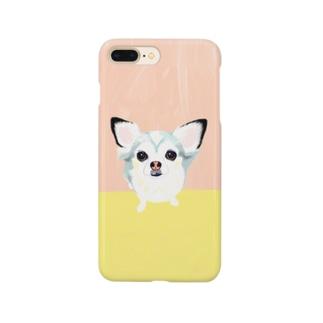 「保護犬カフェ支援」グッズ ビビィさん Smartphone cases