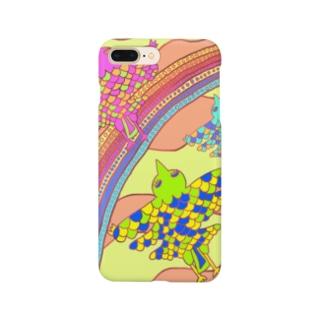 虹と鳥 Smartphone cases