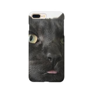愛くるしい黒猫ケース Smartphone cases