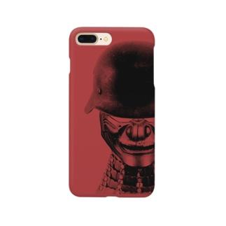 甲冑兵 レッド Smartphone cases
