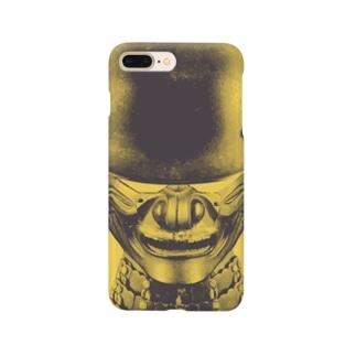 甲冑兵 イエローグレー Smartphone cases