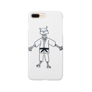 柔道ガイコツ(スカル) Smartphone cases