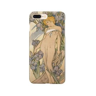 ミュシャ 「四つの花 アイリス」 Smartphone cases