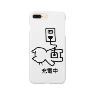 ねこっぽ 充電中 Smartphone cases