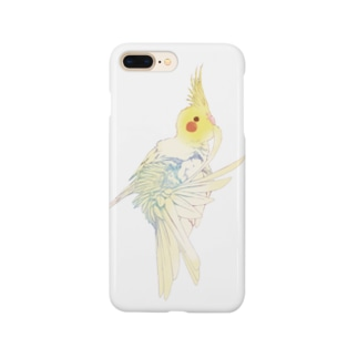 【iPhone 5~X】尾羽のお手入れオカメインコ Smartphone cases