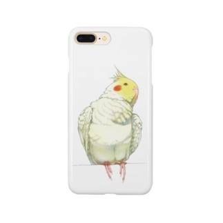 【iPhone 5~X】見上げるオカメインコ Smartphone cases