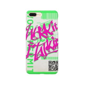 Work it like a I talk itのぴんく Smartphone cases