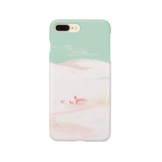 雪とススキ Smartphone cases