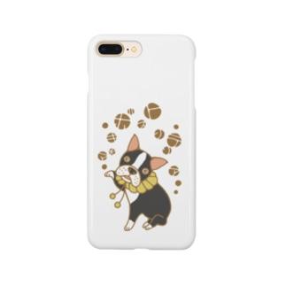 招きボストンテリア Smartphone cases