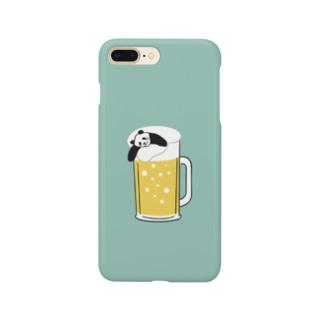 ビールでほろ酔いパンダ Smartphone cases