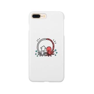 仲良しこよしのイカタコ Smartphone cases