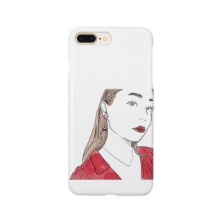 赤と女の子 Smartphone cases