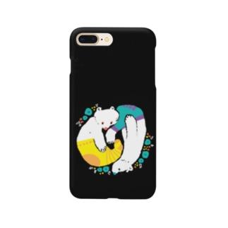 クマとクマはのんびり Smartphone cases