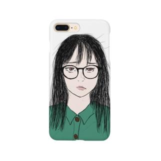 【公式】はげめがねちゃん@ロングヘアー Smartphone cases