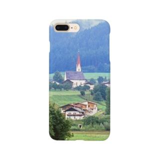ドイツ:山岳地方の風景写真 Germany: view of a mountain village Smartphone cases
