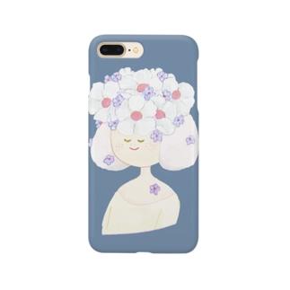 おはなのこ(ブルー) Smartphone cases