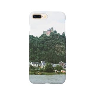 ドイツ:シェーンブルク城が見えるライン川の岸辺の風景写真 Germany: Schönburg am Rhein Smartphone cases