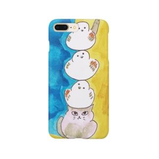 シマエナガ三重奏 Smartphone cases