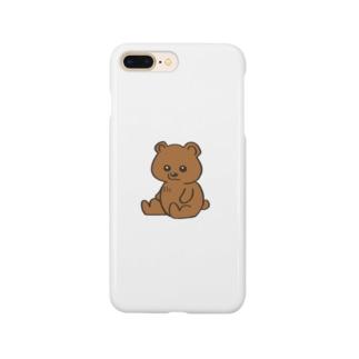 茶色のかわいい無表情クマさん Smartphone Case