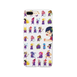 四ツ谷坂四十八ドット(クリア) Smartphone cases