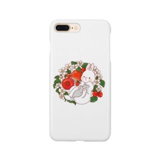 赤い果物うさぎさん Smartphone cases