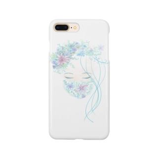 花マスク少女 Smartphone cases