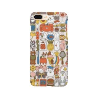 ぎゅうぎゅう(こっくりカラー) Smartphone cases