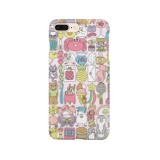 ぎゅうぎゅう(パステルカラー) Smartphone cases