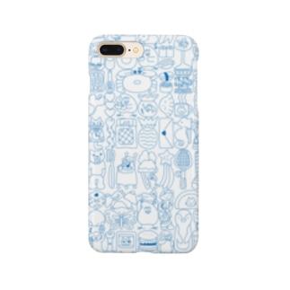 ぎゅうぎゅう(青い線)  Smartphone cases