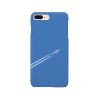 日本の空:飛行機雲 Blue sky: Contrail Smartphone cases