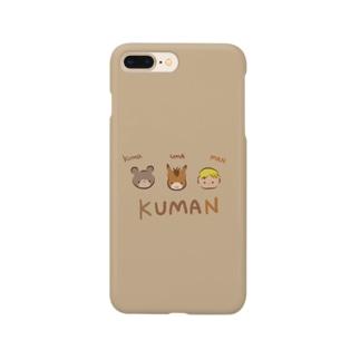 kumaとumaとman Smartphone cases