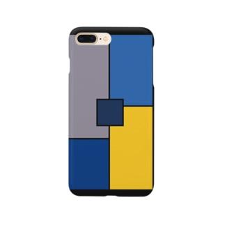 シンプル/ブルー Smartphone Case