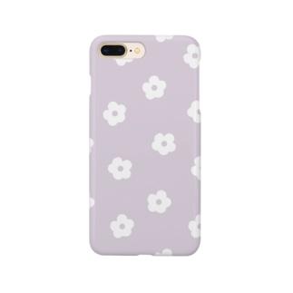 花柄/パープル Smartphone Case