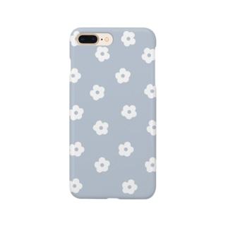 花柄/ブルー Smartphone Case